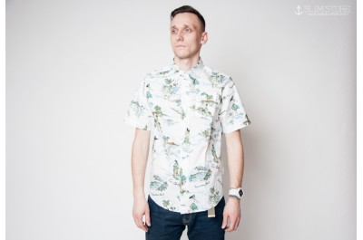 HUF SHIRT MAKAPUU SHORT SLEEVE WHITE