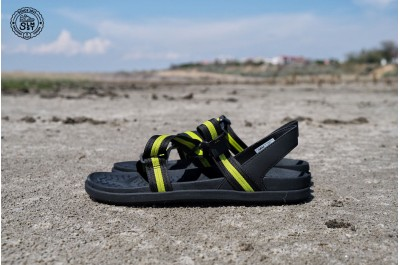 NATIVE SHOES ZURICH JIFFY BLACK CHARTREUSE GREEN JIFFY BLACK